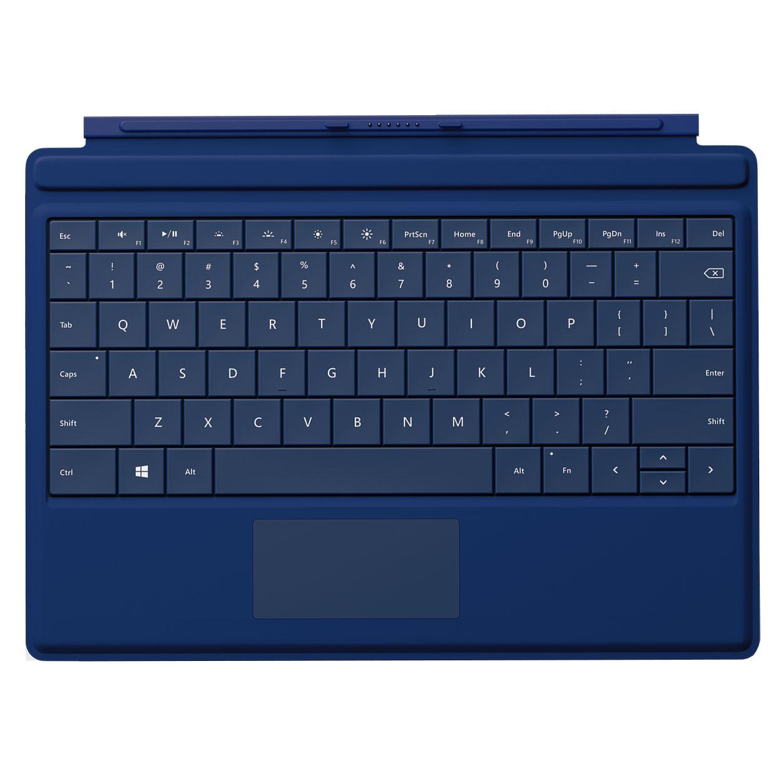 microsoft type cover pour surface 3 bleu accessoires. Black Bedroom Furniture Sets. Home Design Ideas