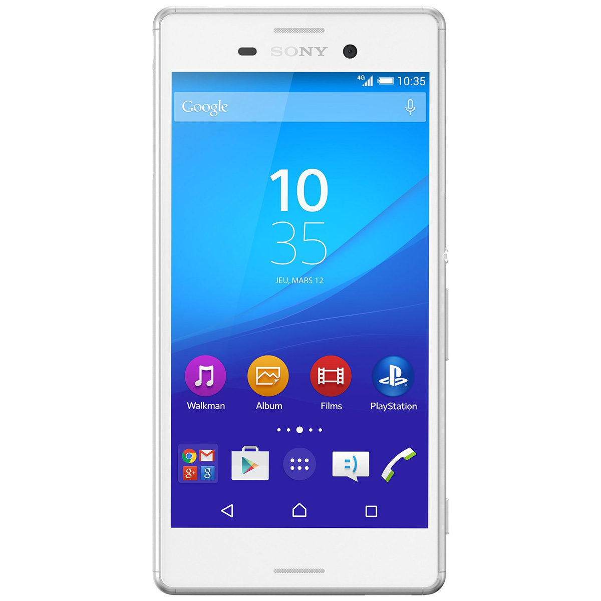 sony xperia m4 aqua dual sim blanc mobile smartphone. Black Bedroom Furniture Sets. Home Design Ideas