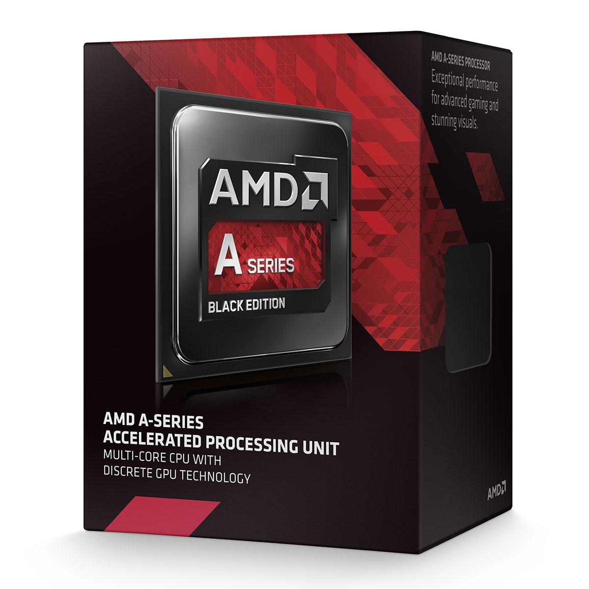 Processeur AMD A8-7650K (3.8 GHz) Black Low Noise Edition Processeur Quad Core socket FM2+ Cache L2 4 Mo Radeon R7 Series 0.028 micron + ventilateur silencieux (version boîte - garantie constructeur 3 ans)