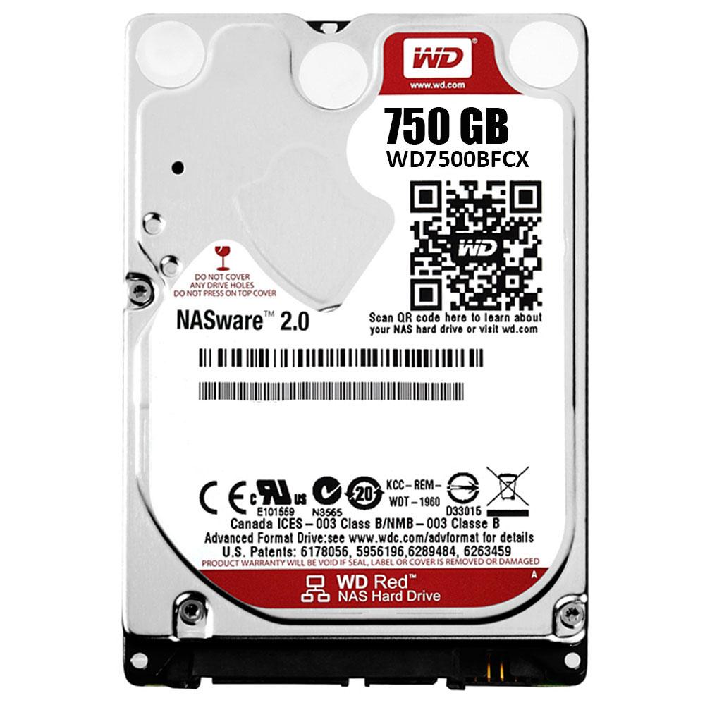 "Disque dur interne WD Red 750 Go SATA 6Gb/s Disque Dur 2,5"" 750 Go 16 Mo Serial ATA 6Gb/s - WD7500BFCX (bulk)"