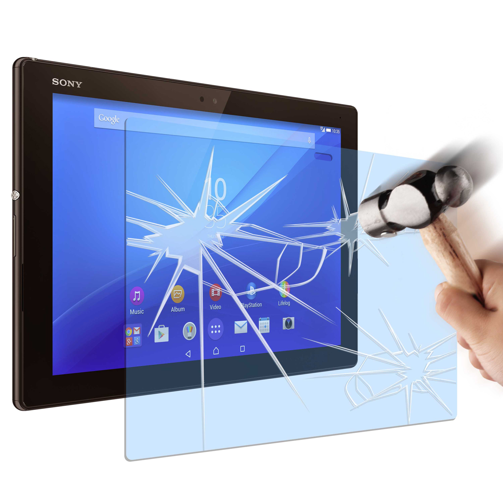 Made for xperia verre tremp xperia z4 tablet accessoires tablette made for - Tablette verre trempe ...