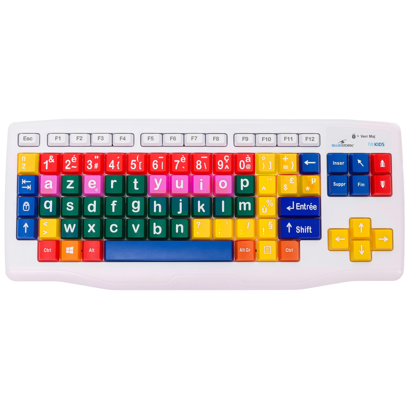 bluestork fun kids keyboard  bs  vente clavier pc sur ldlc com