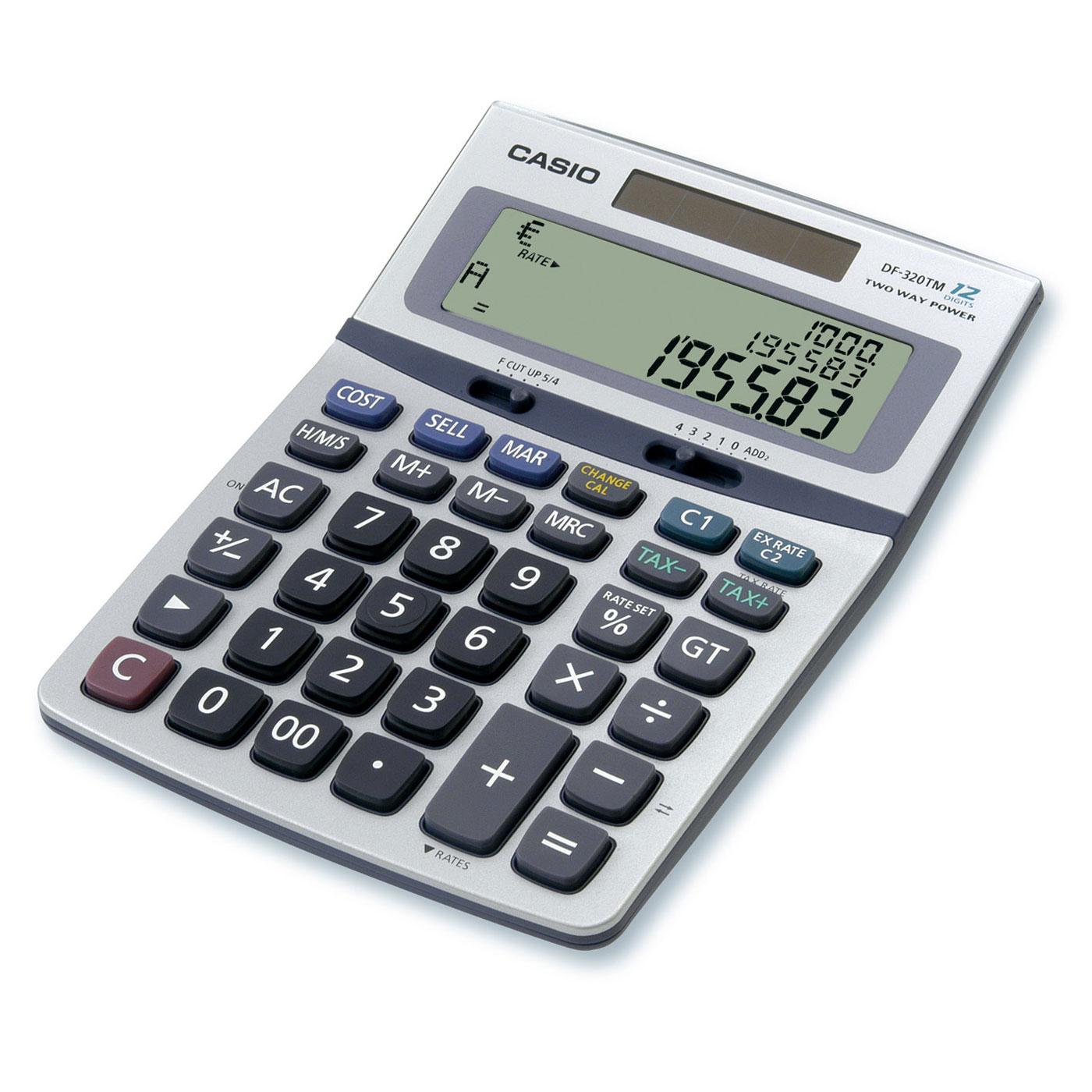 casio df 320tm calculatrice de bureau calculatrice casio sur ldlc. Black Bedroom Furniture Sets. Home Design Ideas