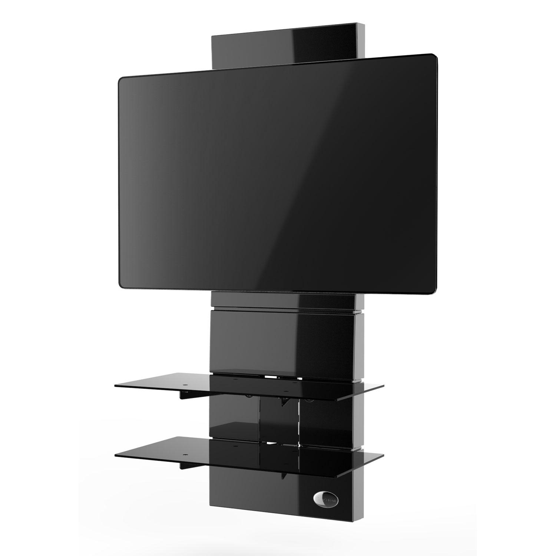 Meliconi ghost design 3000 noir meuble tv meliconi sur ldlc for Meuble tv mural miraz 03