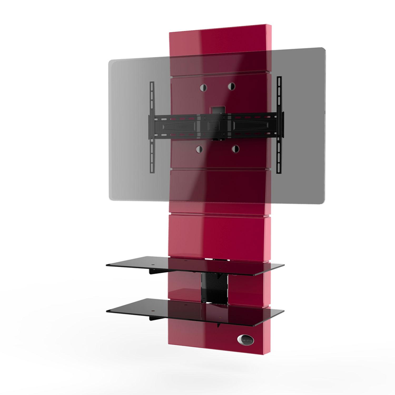 Meliconi ghost design 3000 rouge meuble tv meliconi sur ldlc for Decoration salon ecran plat tapis rouge