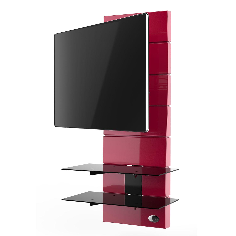 Meliconi ghost design 3000 rotation rouge meuble tv for Meuble tv mural miraz 03