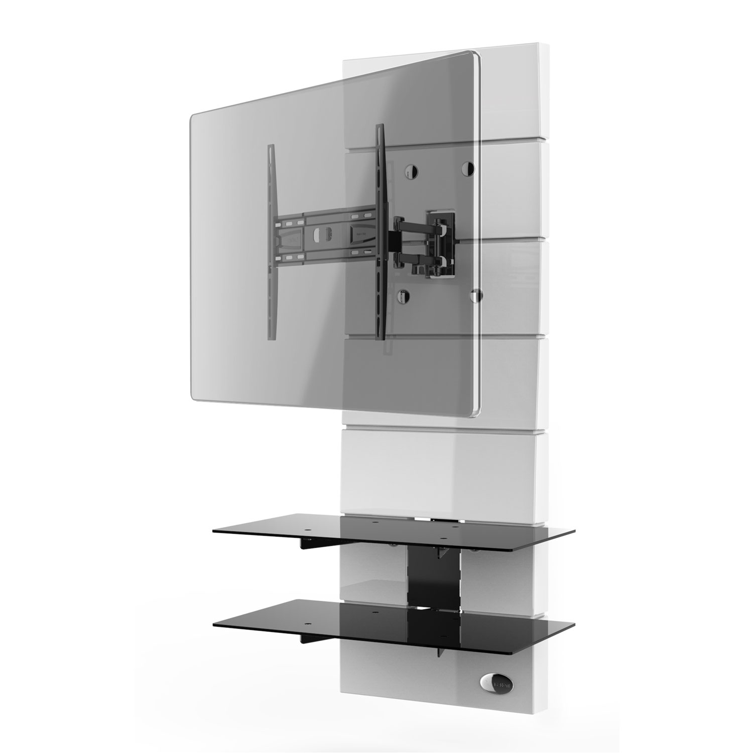 Meliconi ghost design 3000 rotation blanc meuble tv meliconi sur ldlc - Support tv angle mural ...