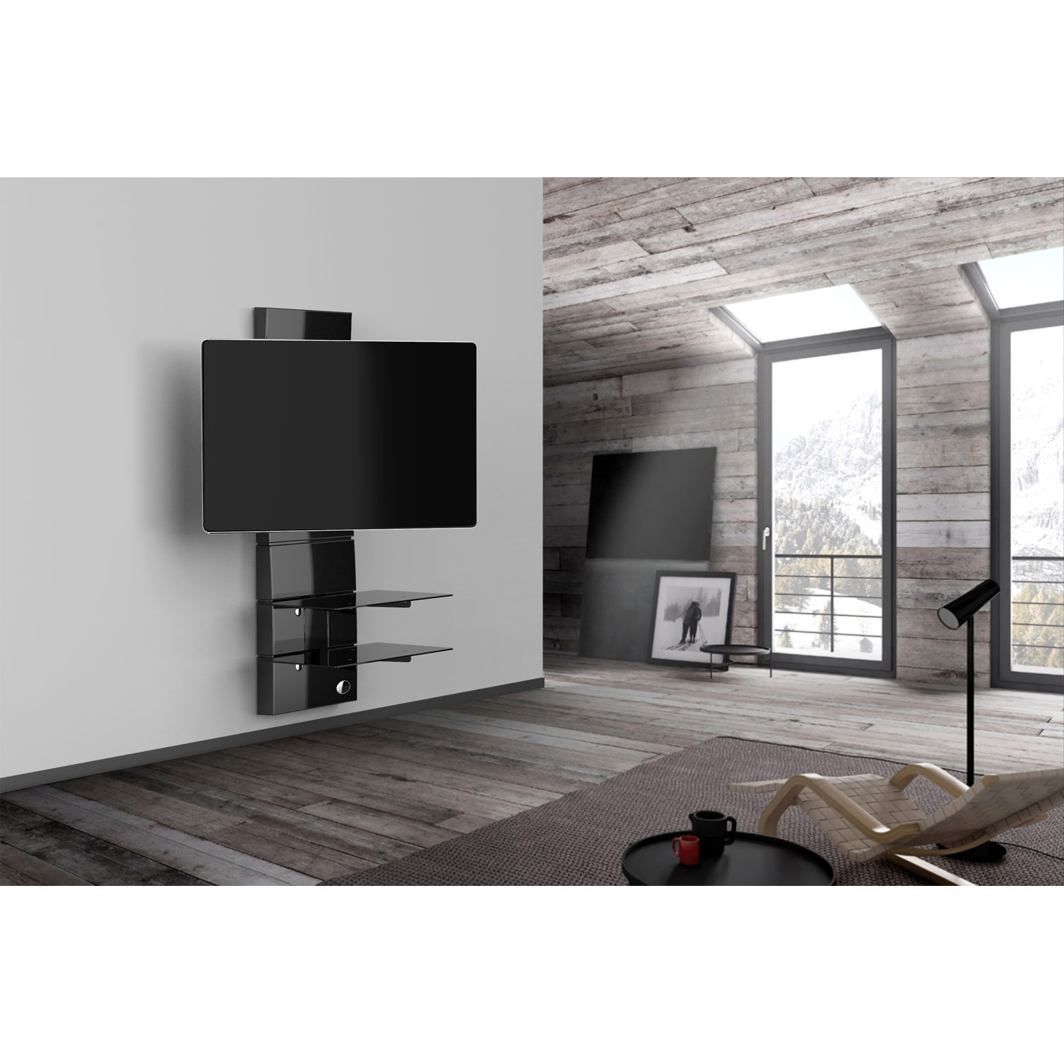 meliconi ghost design 3000 rotation noir (488310) : achat / vente ... - Meuble Tv Mural Meliconi Ghost Design 2000