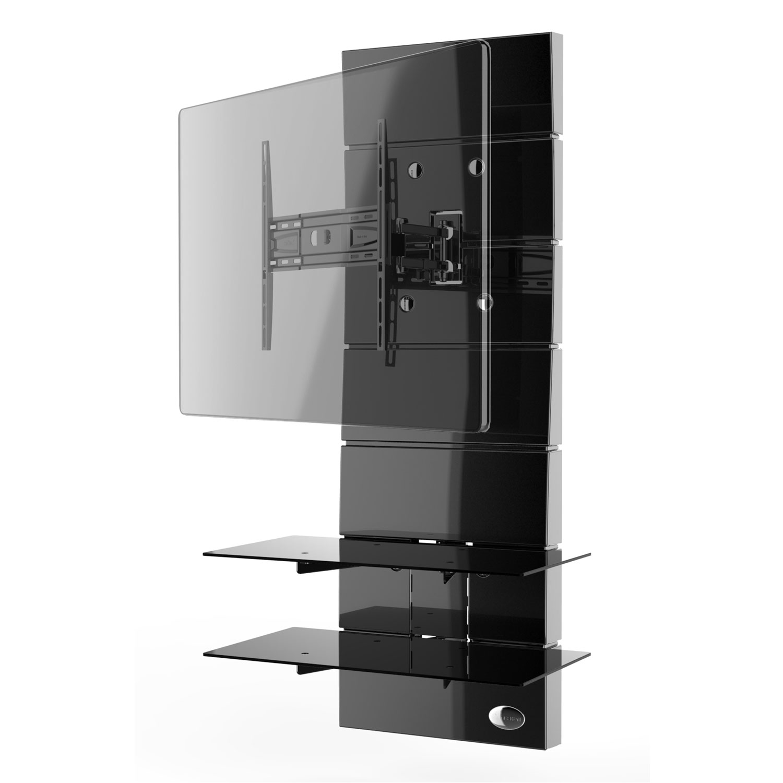 Meliconi ghost design 3000 rotation noir meuble tv meliconi sur ldlc - Meuble tv avec support orientable ...