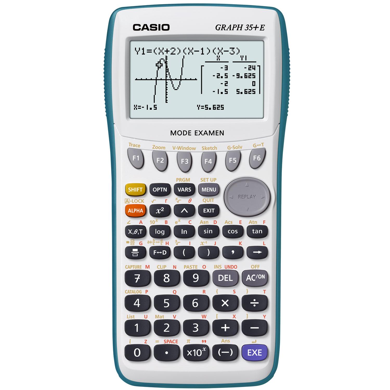 Calculatrice Casio Graph 35+E Calculatrice graphique pour lycée (toutes sections confondues)