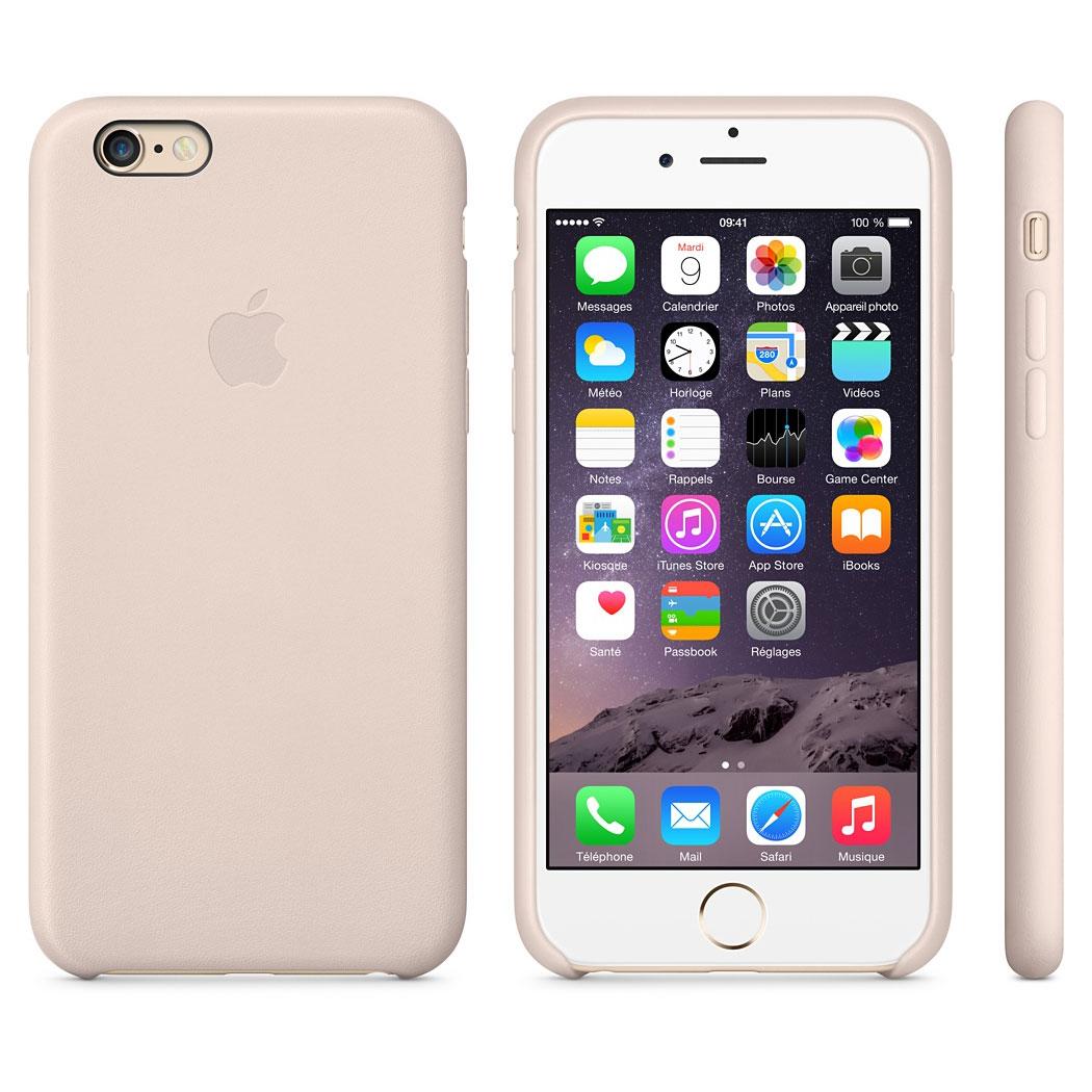 apple coque en cuir rose poudr iphone 6 etui t l phone apple sur ldlc. Black Bedroom Furniture Sets. Home Design Ideas
