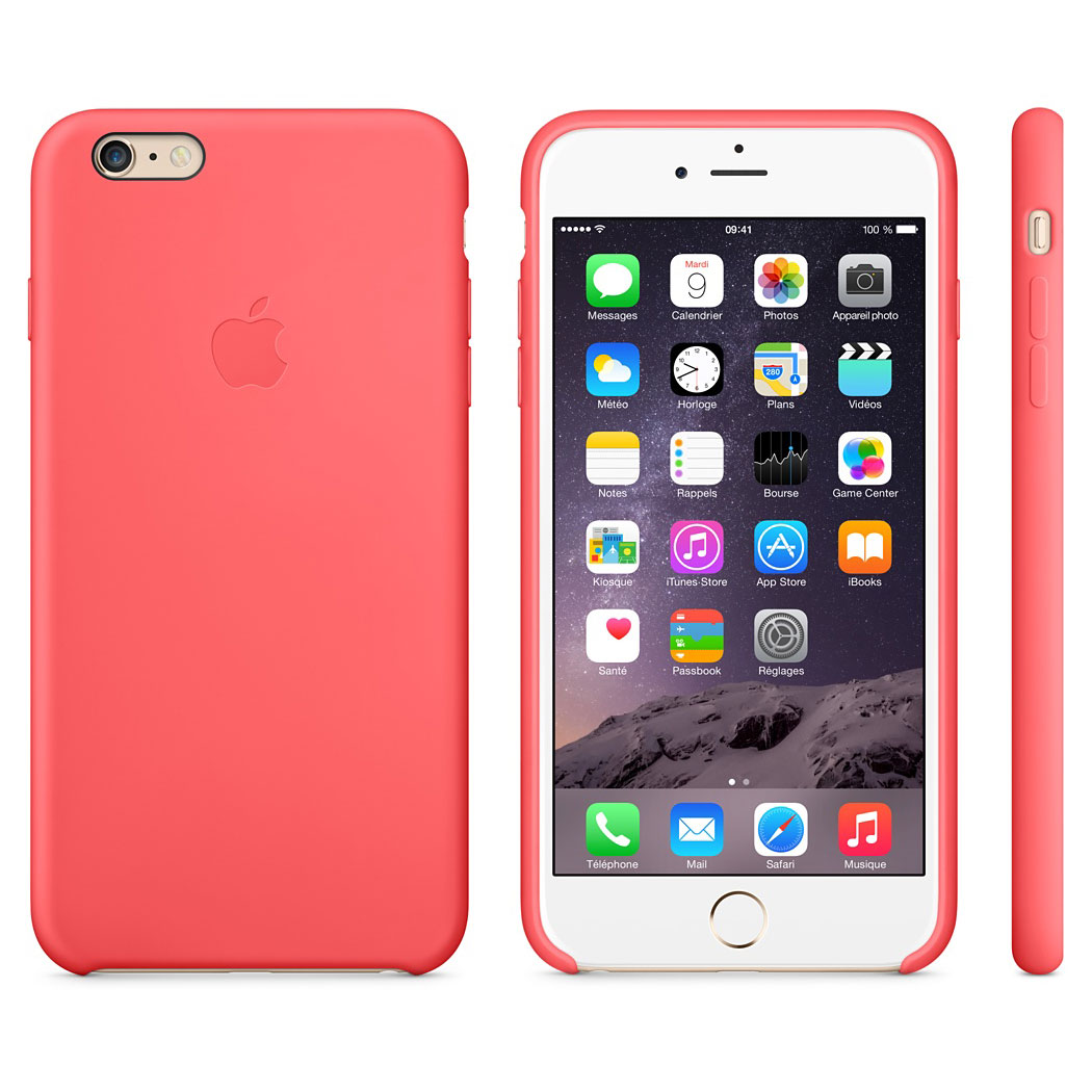 apple coque en silicone rose apple iphone 6 plus etui. Black Bedroom Furniture Sets. Home Design Ideas