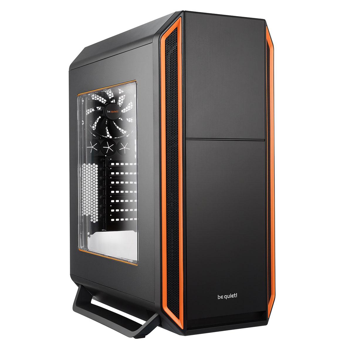 Boîtier PC be quiet! Silent Base 800 Window (Noir/Orange) Boîtier grand tour avec fenêtre