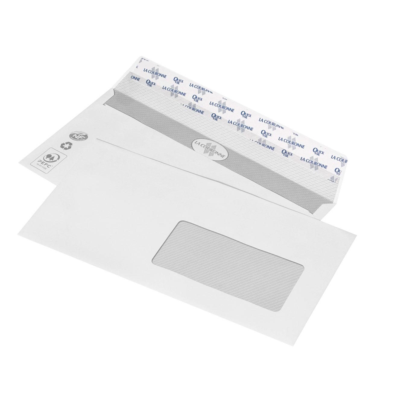 La couronne boite de 500 enveloppes dl avec fen tre 2715 for Enveloppe fenetre