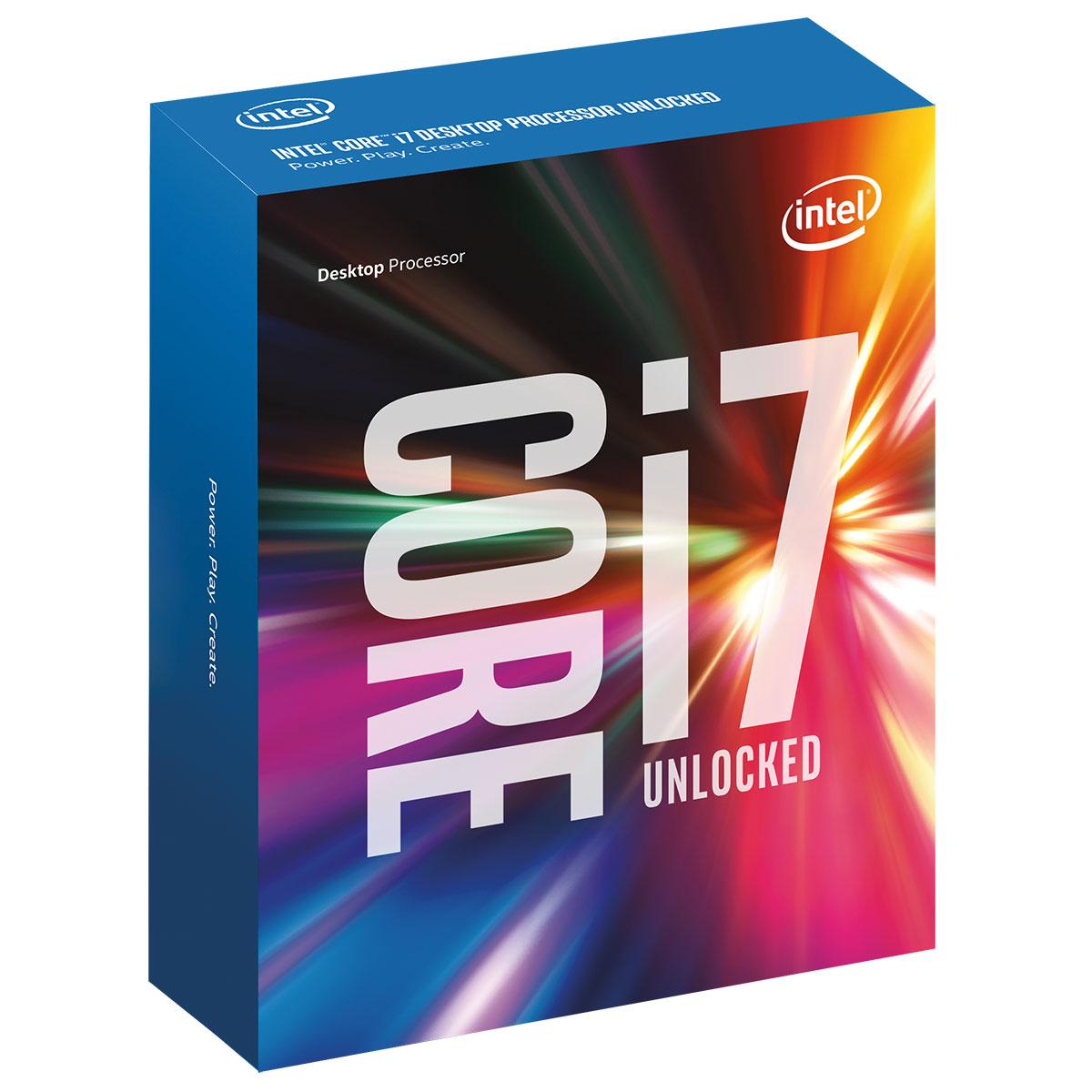 Processeur Intel Core i7-6700K (4.0 GHz) Processeur Quad Core Socket 1151 Cache L3 8 Mo Intel HD Graphics 530 0.014 micron (version boîte sans ventilateur - garantie Intel 3 ans)