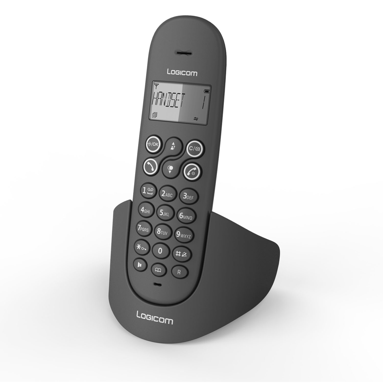 logicom luna 150 noir t l phone sans fil logicom sur ldlc. Black Bedroom Furniture Sets. Home Design Ideas