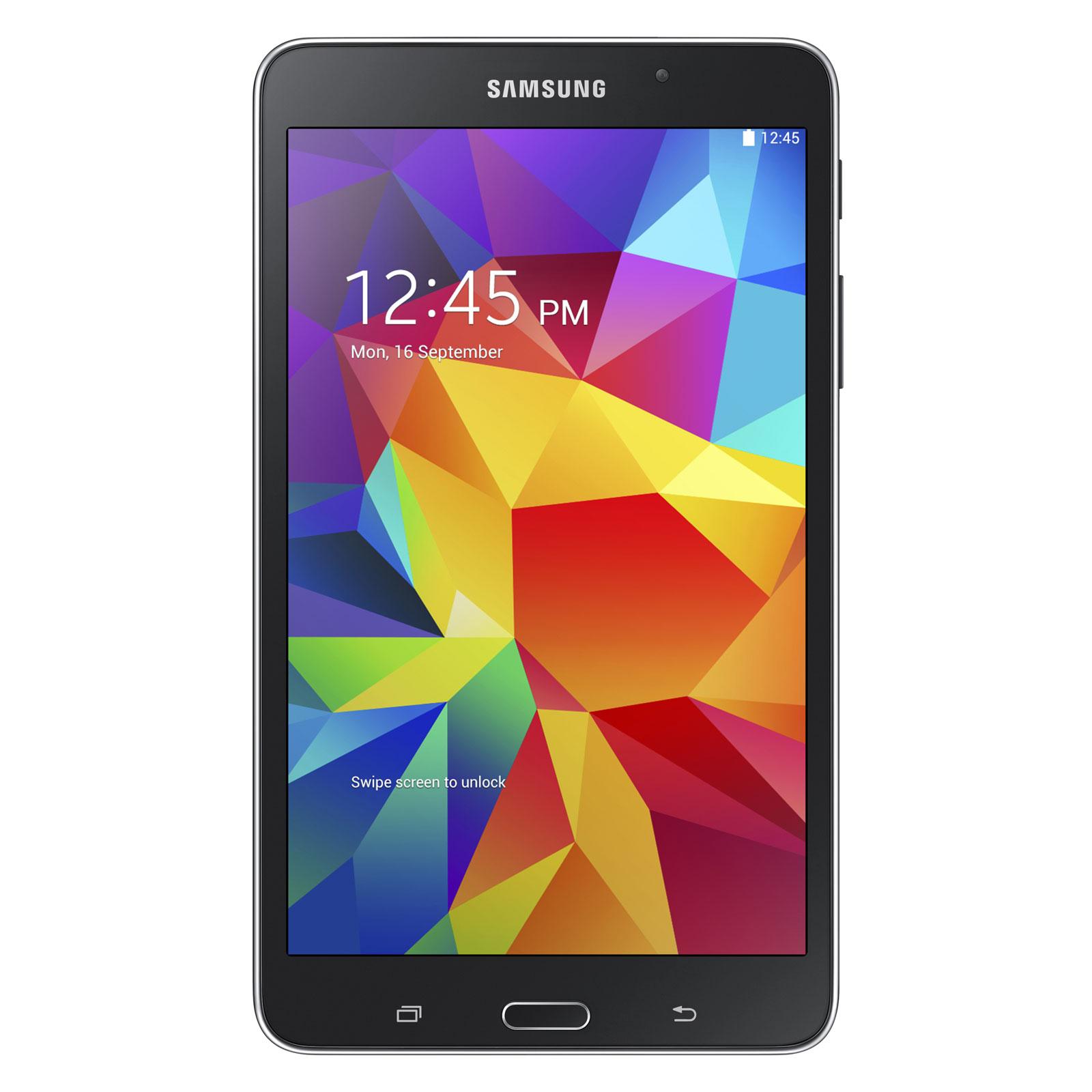 "Tablette tactile Samsung Galaxy Tab 4 7"" SM-T230 8 Go Noir Tablette Internet - ARM Cortex-A7 Quad-Core 1.2 GHz 1.5 Go 8 Go 7"" LED Tactile Wi-Fi/Bluetooth/Webcam Android 4.4"