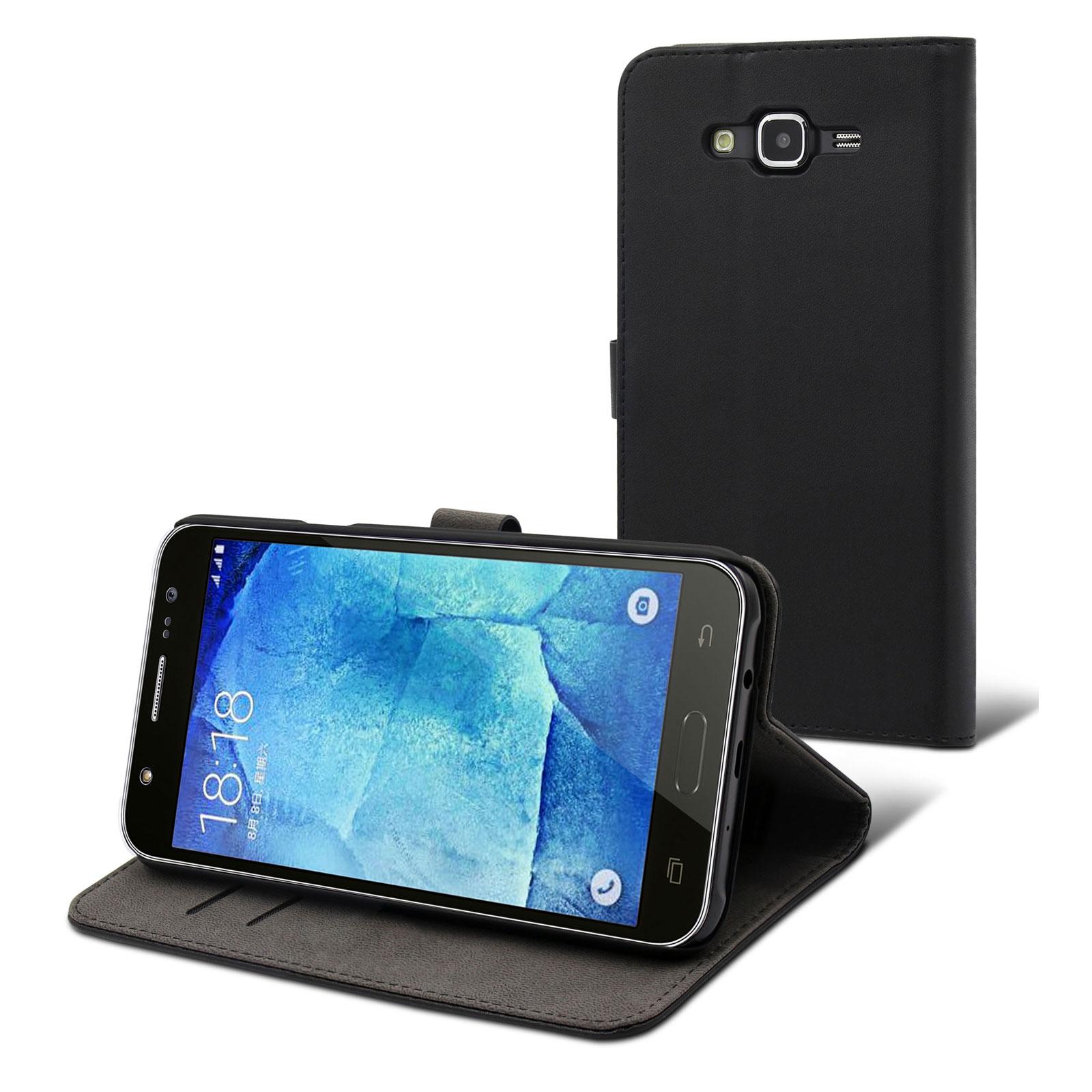 Muvit Etui Slim S Folio Noir Samsung Galaxy J7 Etui