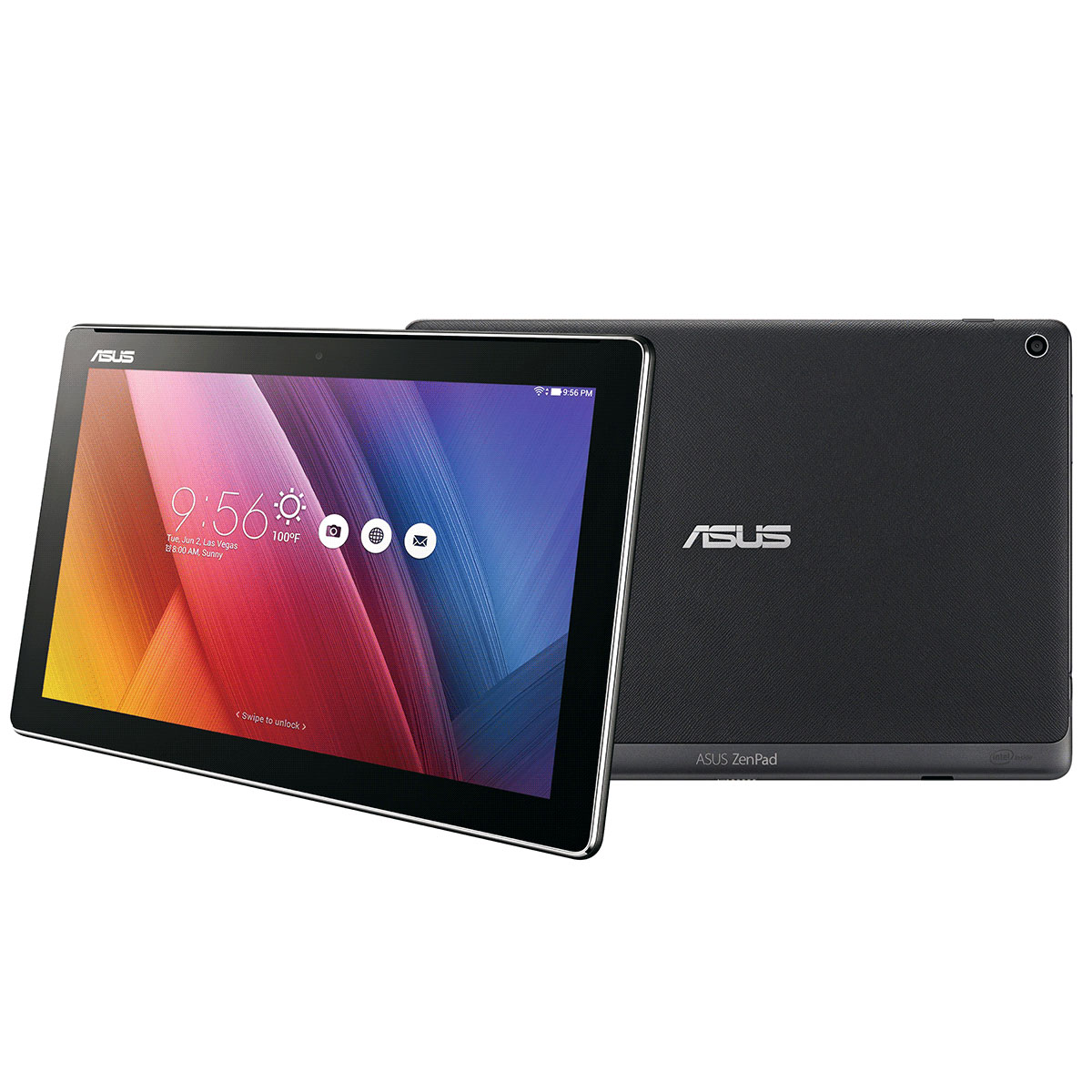 asus zenpad 10 z300c 1a057a noir tablette tactile asus. Black Bedroom Furniture Sets. Home Design Ideas