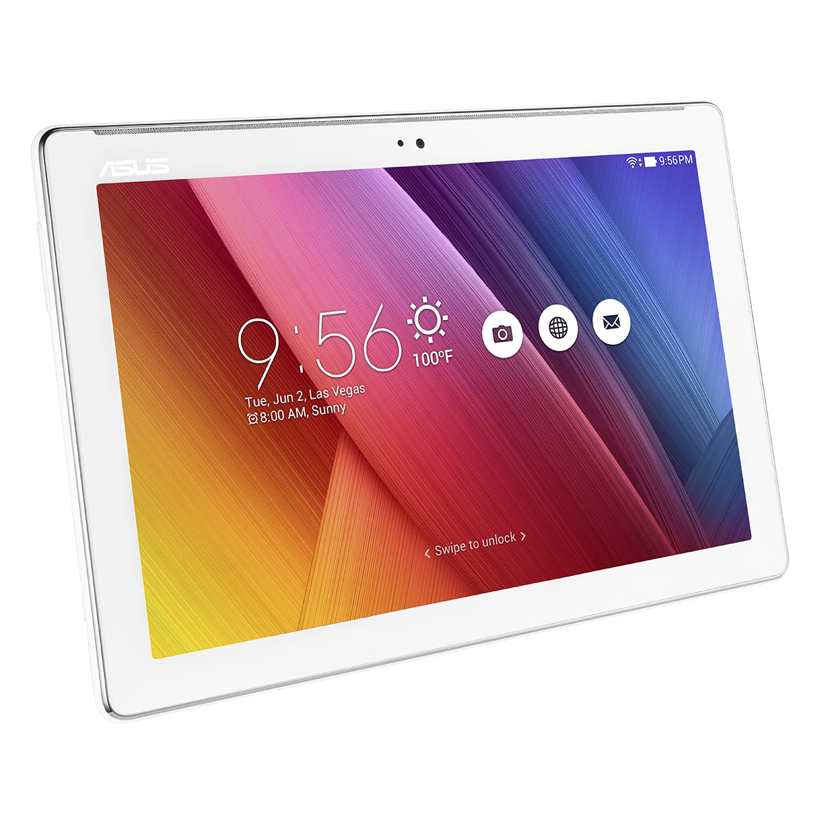 Asus zenpad 10 z300c 1b045a blanc tablette tactile asus for Housse tablette asus zenpad 10