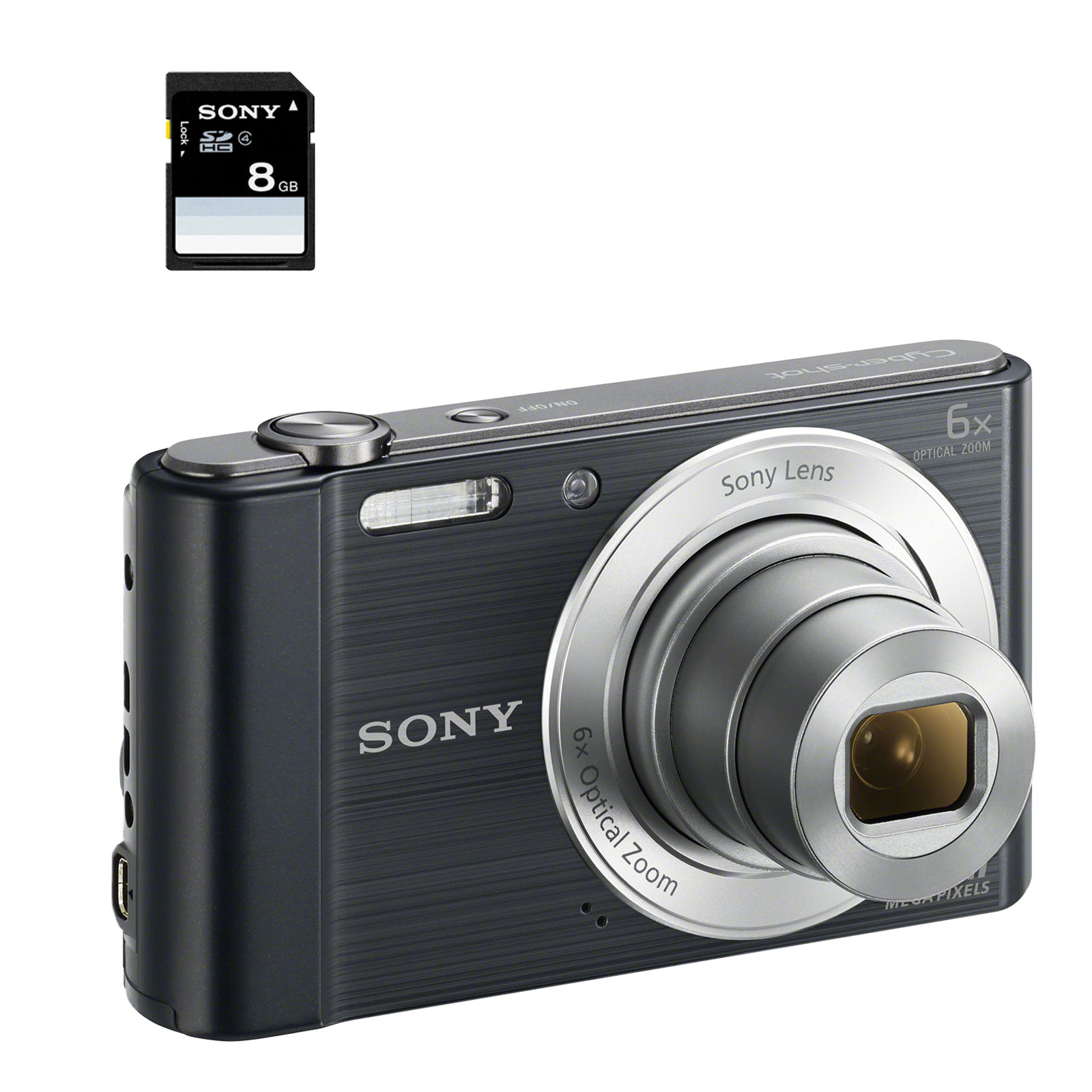 Sony dsc w810 pack carte m moire noir dscw810bsd8di yf for Ecran noir appareil photo 3ds