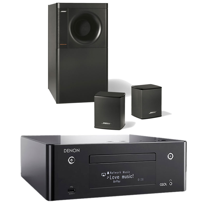 denon ceol n9 noir bose acoustimass 3 series v noir. Black Bedroom Furniture Sets. Home Design Ideas