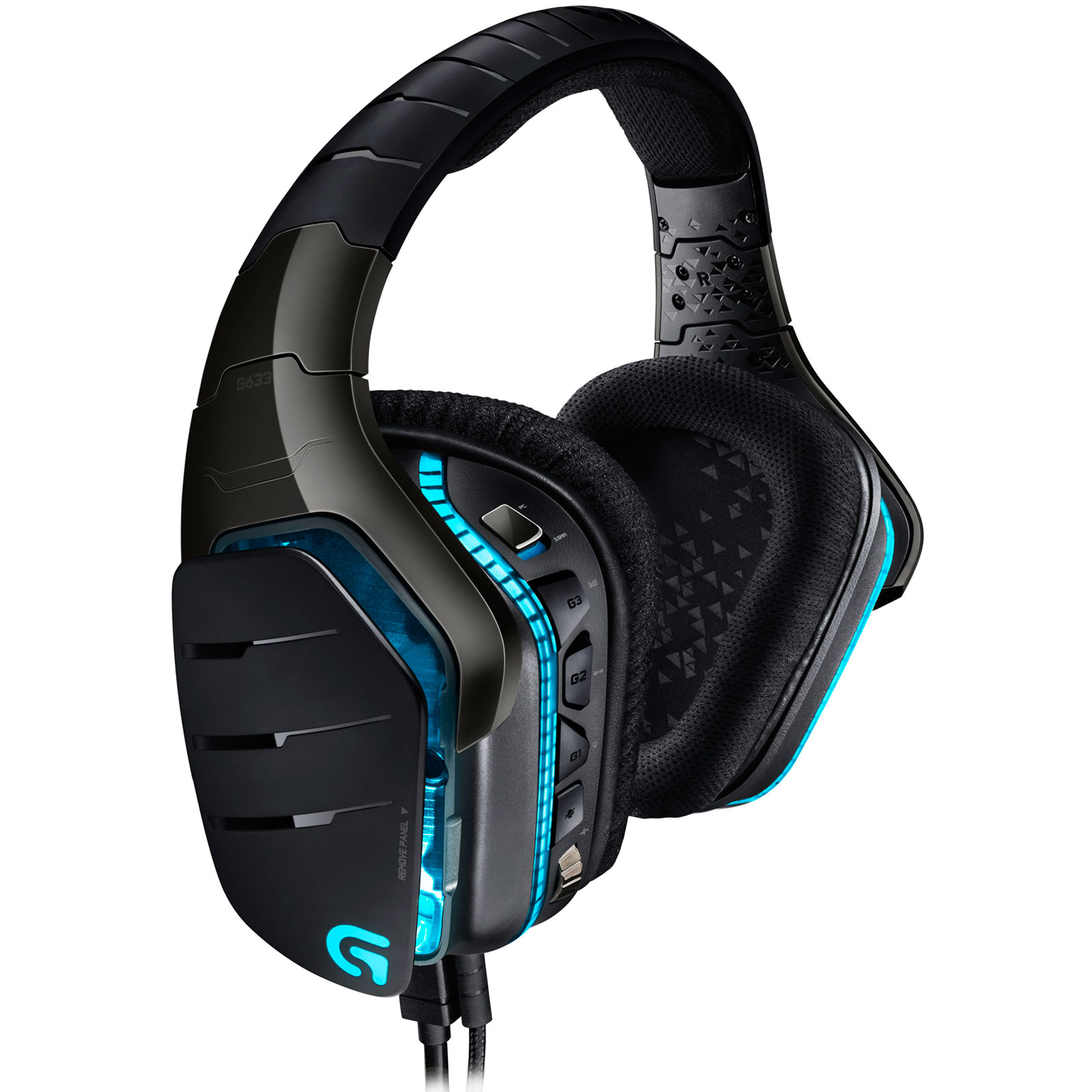 Micro-casque Logitech G633 Artemis Spectrum RGB 7.1 Surround Gaming Headset Casque-micro 7.1 pour gamer (compatible PC/ PlayStation 4/ Xbox One)