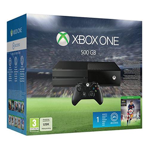 Console Xbox One Microsoft Xbox One + FIFA 16 Console de jeux-vidéo nouvelle génération avec disque dur 500 Go + FIFA 16