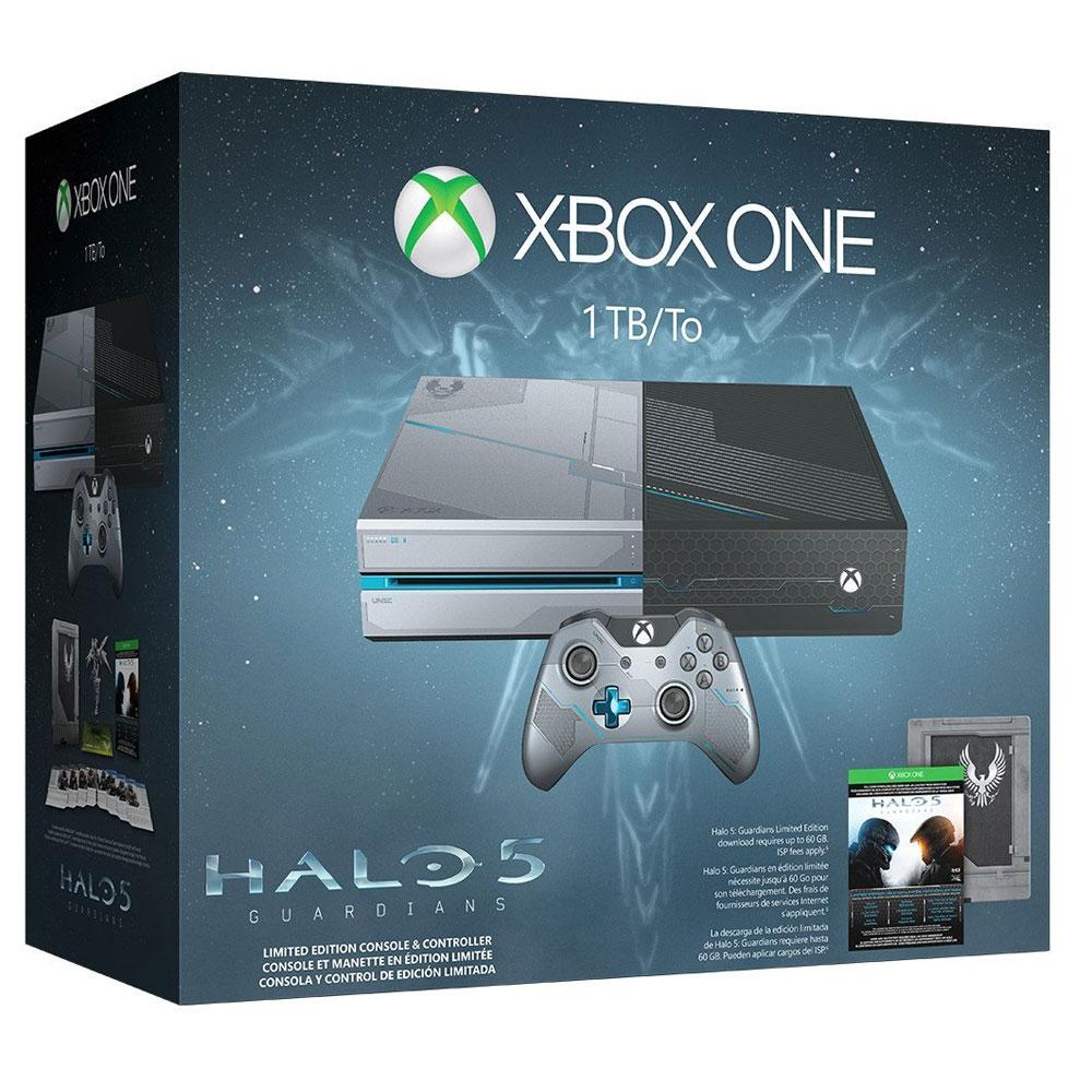 Console Xbox One Microsoft Xbox One + Halo 5 : Guardians - Limited Edition Console de jeux-vidéo nouvelle génération avec disque dur 1 To + Halo 5 : Guardians