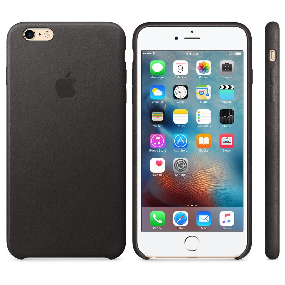 apple coque en cuir noir apple iphone 6s etui t l phone apple sur ldlc. Black Bedroom Furniture Sets. Home Design Ideas