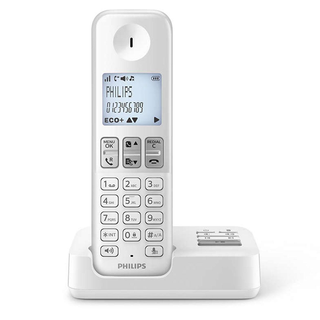 philips d2351w fr blanc t l phone sans fil philips sur ldlc. Black Bedroom Furniture Sets. Home Design Ideas
