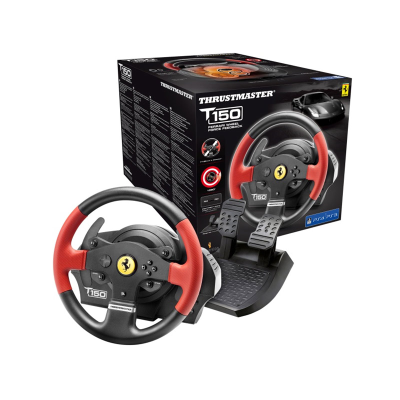 thrustmaster t150 ferrari force feedback pc ps3 ps4 4160630 achat vente volant pc sur. Black Bedroom Furniture Sets. Home Design Ideas