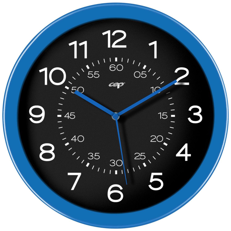 Mobilier et aménagement CEP Gloss Horloge analogique magnétique Bleu Horloge aimantée de 30 cm de diamètre