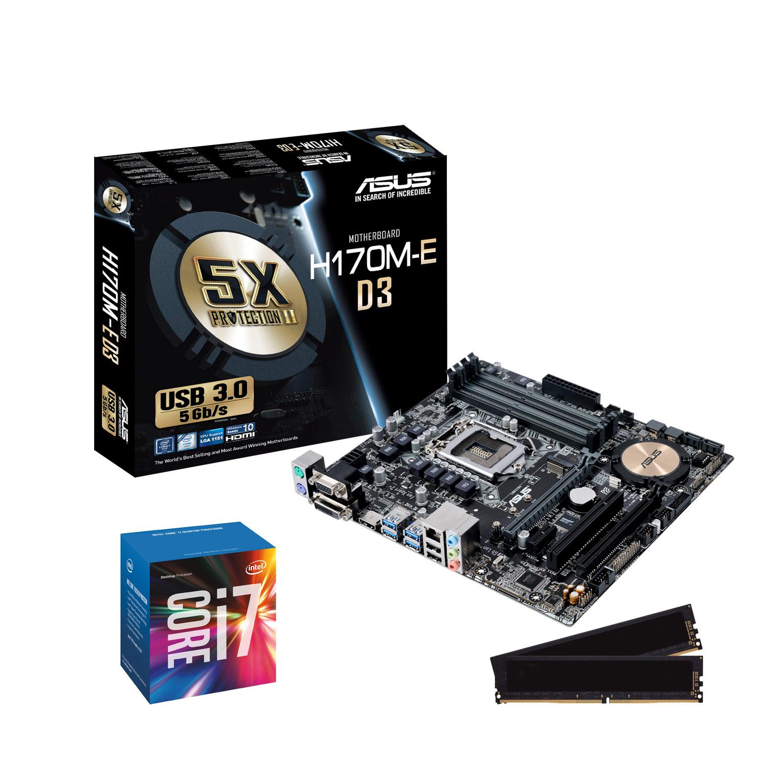 Kit Upgrade PC Core i7 ASUS H170M-E D3 8 Go (KIT UPG ASUS ...