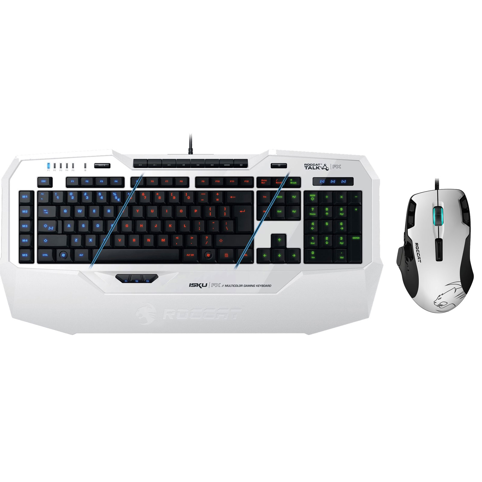 roccat isku fx blanc tyon blanche pack clavier. Black Bedroom Furniture Sets. Home Design Ideas