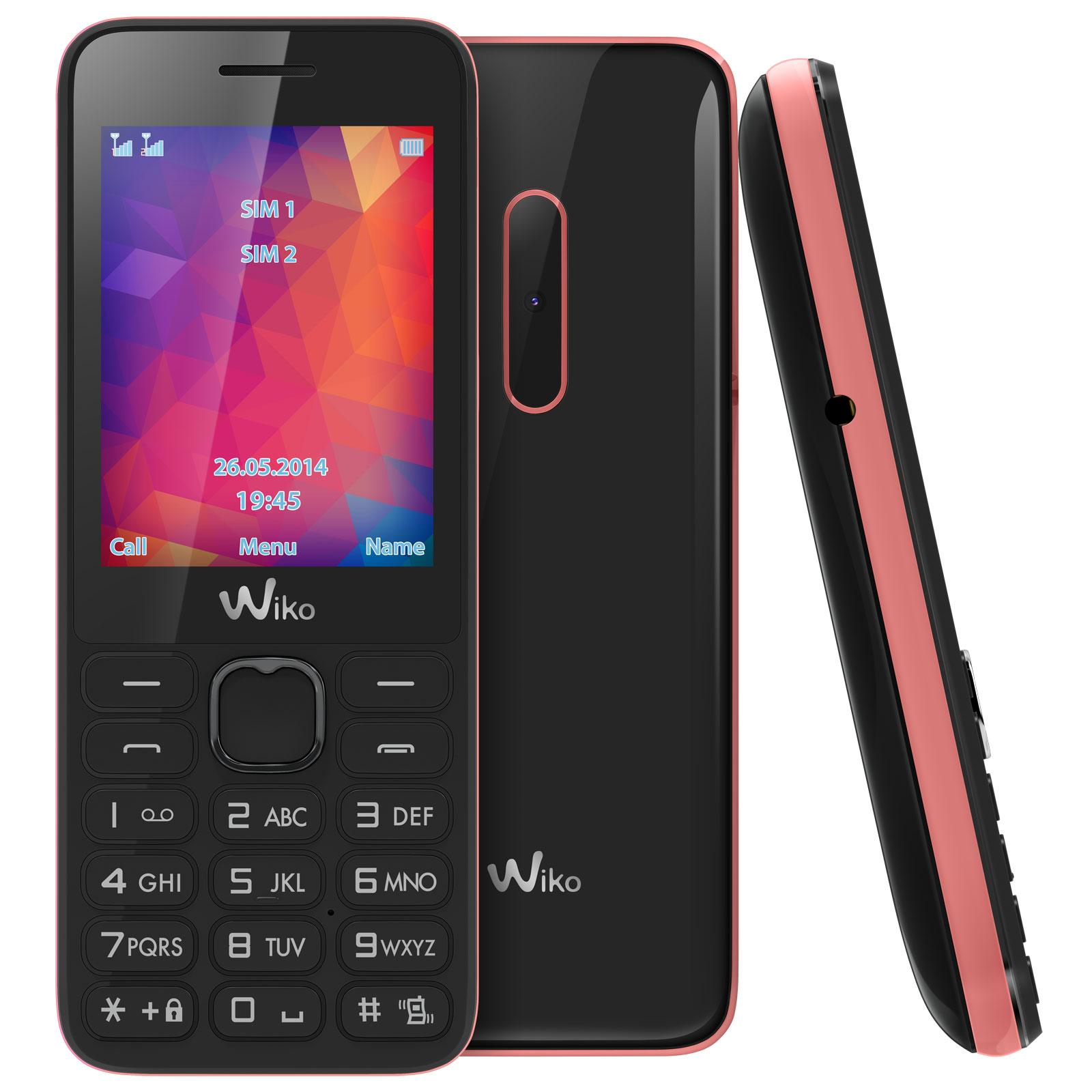 wiko riff 2 noir rose mobile smartphone wiko sur ldlc. Black Bedroom Furniture Sets. Home Design Ideas