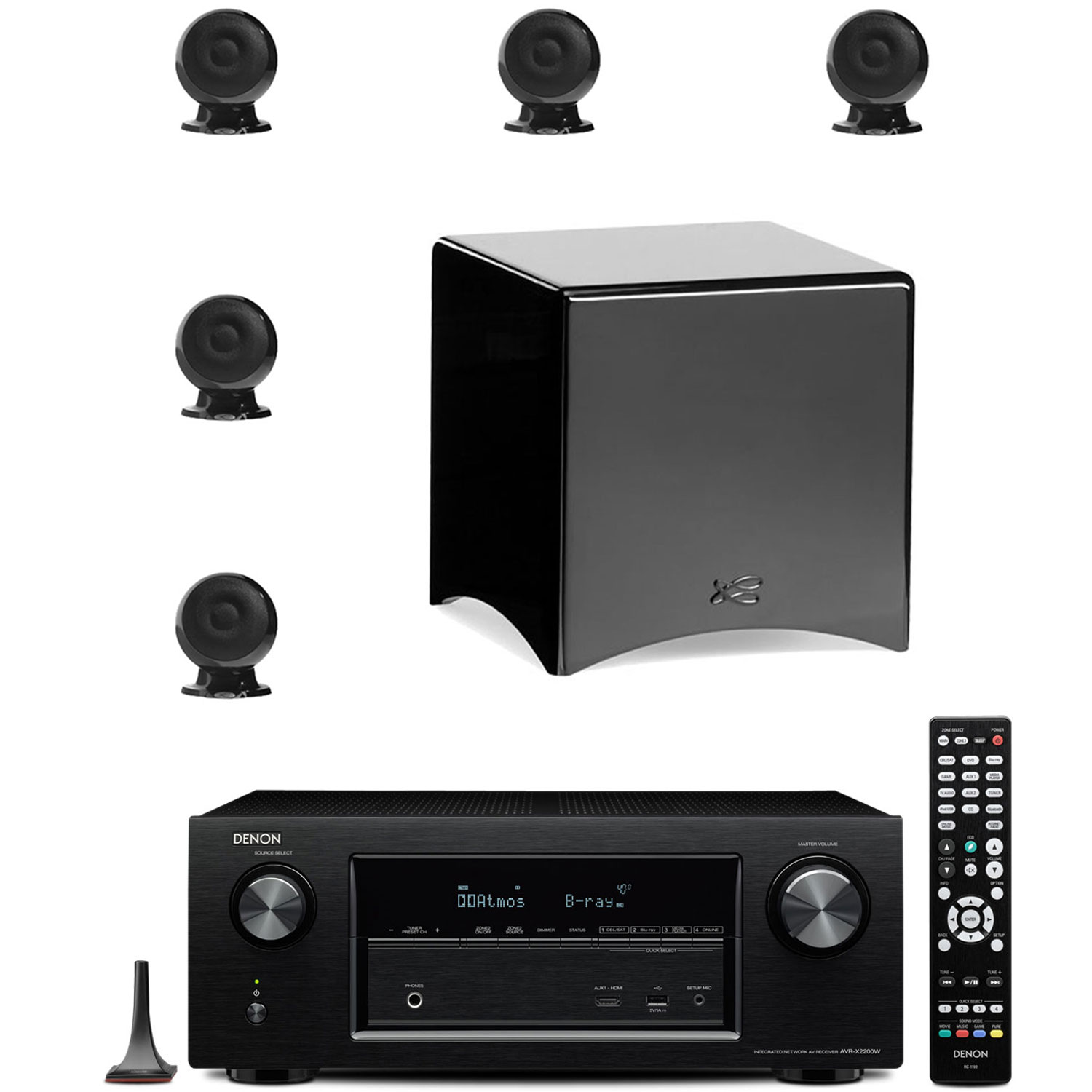 Denon avr x2200w noir cabasse pack eole 3 5 1 ws noir ensemble home cin m - Ensemble tv home cinema ...
