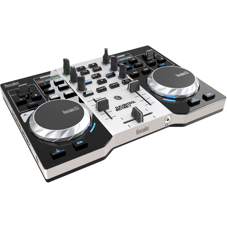 Hercules djcontrol instinct s series table de mixage - Table de mixage avec carte son integree ...