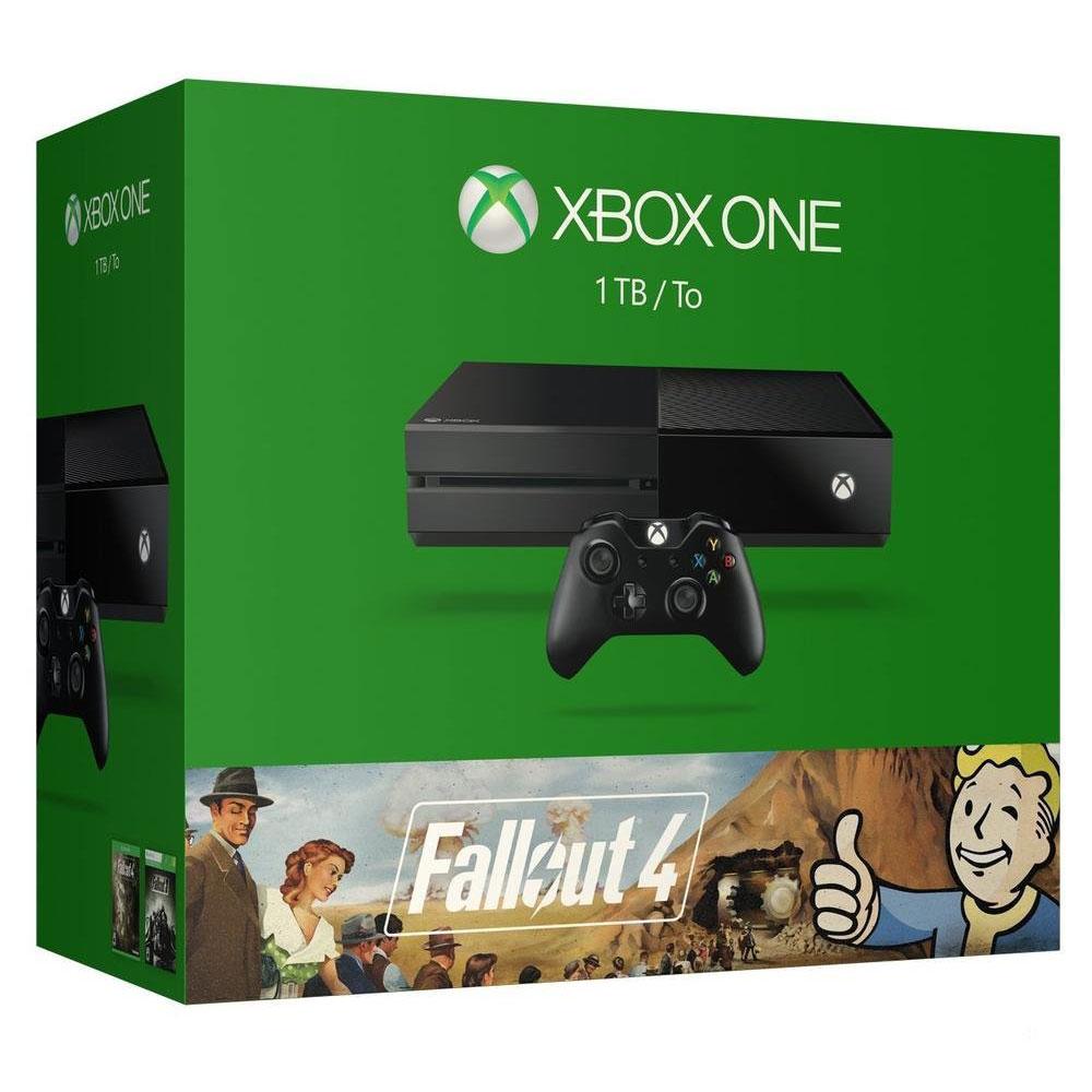 Console Xbox One Microsoft Xbox One + Fallout 4 Console de jeux-vidéo nouvelle génération avec disque dur 1 To + Fallout 4