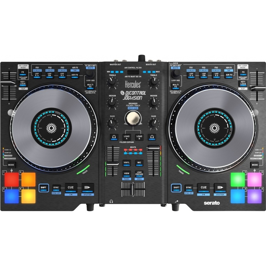 hercules djcontrol jogvision table de mixage hercules sur ldlc. Black Bedroom Furniture Sets. Home Design Ideas