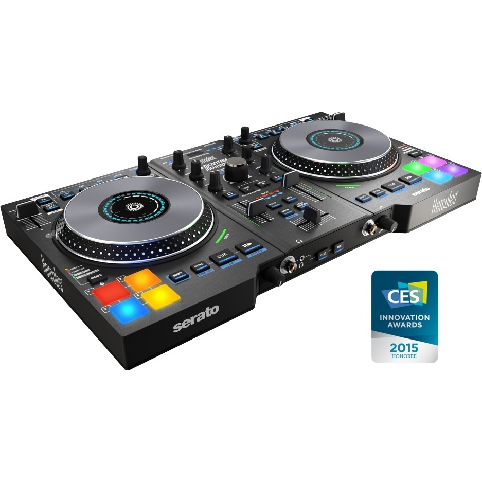Hercules djcontrol jogvision table de mixage hercules for Table de mixage xpress 6 keywood