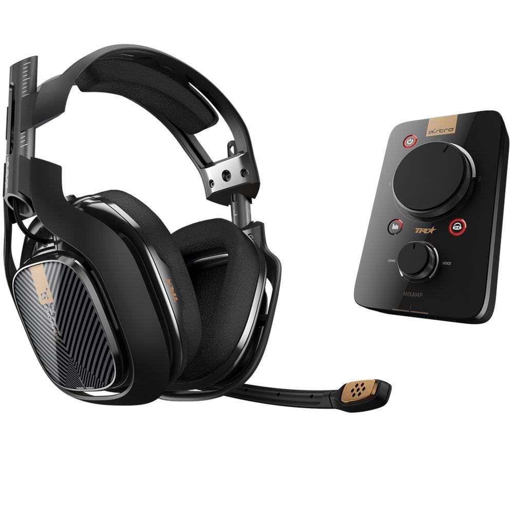 Micro-casque gamer Astro A40 TR + MixAmp Pro TR (noir) Casque-micro filaire avec carte son USB Dolby Digital 7.1 (PS4/PS3/Mac/PC)