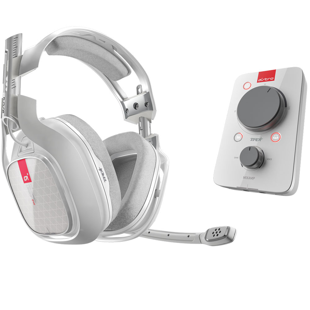 Micro-casque gamer Astro A40 TR + MixAmp Pro TR (blanc) Casque-micro avec carte son USB Dolby Digital 7.1 (Xbox One/Mac/PC)