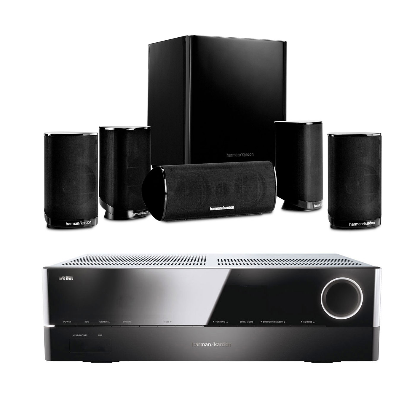 harman kardon avr 161s hkts 9 noir ensemble home. Black Bedroom Furniture Sets. Home Design Ideas