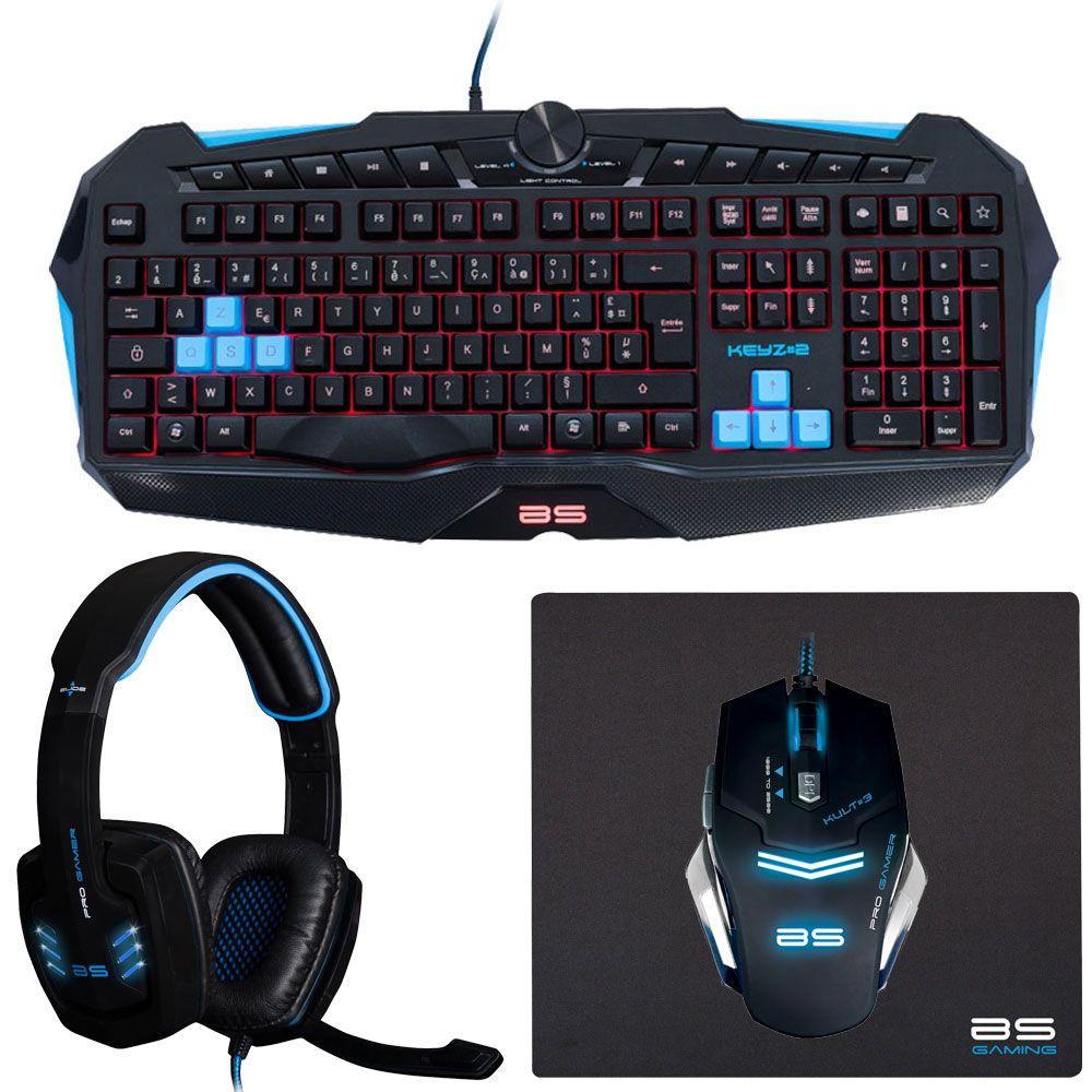 bluestork kuatuor gaming pack v2 bundle achat vente pack clavier souris sur. Black Bedroom Furniture Sets. Home Design Ideas