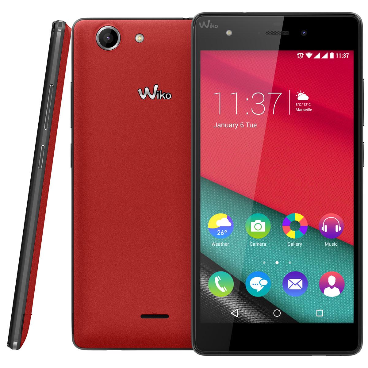 wiko pulp 4g rouge mobile smartphone wiko sur ldlc. Black Bedroom Furniture Sets. Home Design Ideas