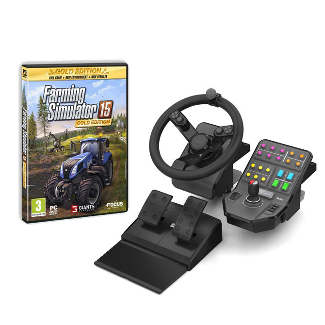 saitek farming simulator 15 simulation pack jeux pc saitek sur ldlc. Black Bedroom Furniture Sets. Home Design Ideas