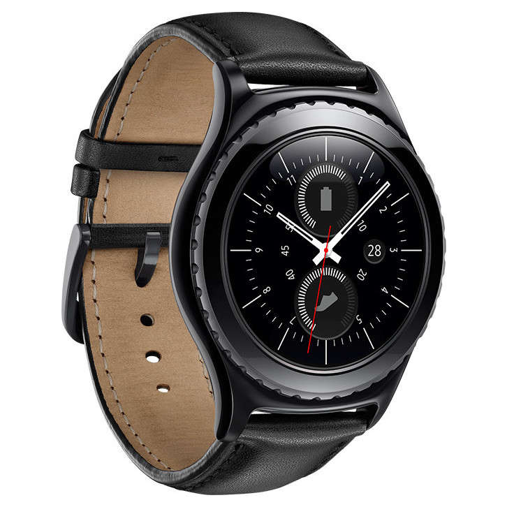 samsung gear s2 classic noire montre bracelets connect s samsung sur ldlc. Black Bedroom Furniture Sets. Home Design Ideas
