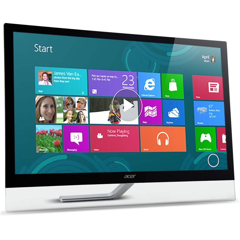 """Ecran PC Acer 23"""" LED Tactile - T232HLAbmjjz Touch 1920 x 1080 pixels - 5 ms - Format large 16/9 - Dalle IPS - HDMI - MHL - Hub USB 3.0 - Noir (Garantie constructeur 2 ans)"""