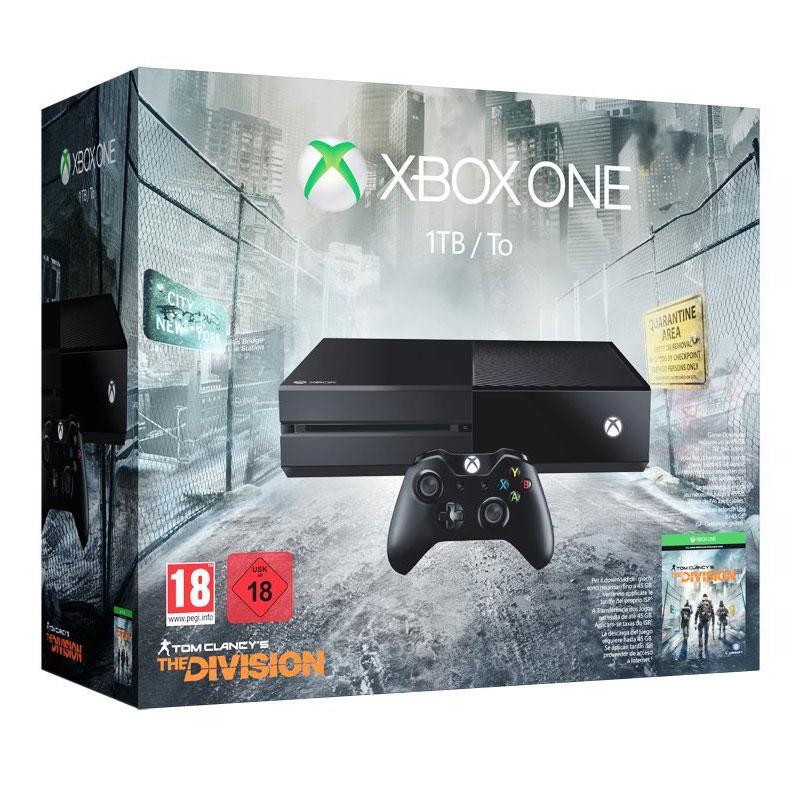 Console Xbox One Microsoft Xbox One + The Division Console de jeux-vidéo nouvelle génération avec disque dur 1 To + The Division